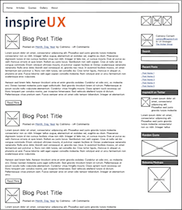 inspireUX wireframed using Balsamiq Mockups