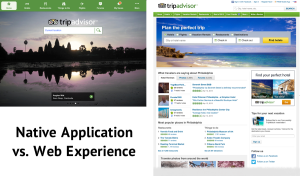 Trip Advisor's Native Tablet App vs Web Experience
