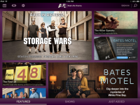 A&E iPad Homepage